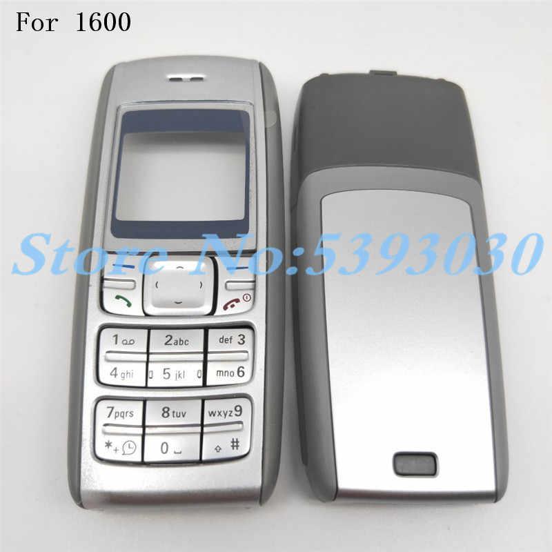 غطاء الإسكان الكامل تواجه الإطار الأمامي مع لوحة المفاتيح عرض الزجاج الإطار الأوسط الخلفي غطاء لعلامة نوكيا 1600