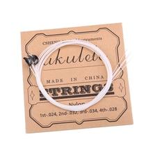 White Nylon Ukulele Strings for Ukulele Guitar Parts Accessories
