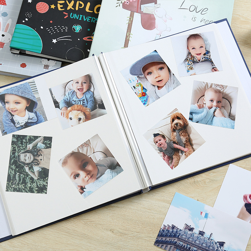 Baby Growth Cover Family Memory DIY Photography Handmade 12 Inch Photo Albums 20 Pages For Kids Case Binding Plakboek