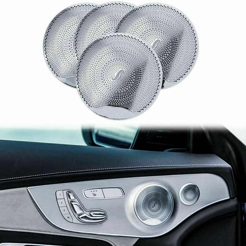 Chrome Porta Audio Altoparlante Suono di Copertura Trim Berlino Voce Hornnet Decorativo per Mercedes Benz C300 C250 Classe GLC