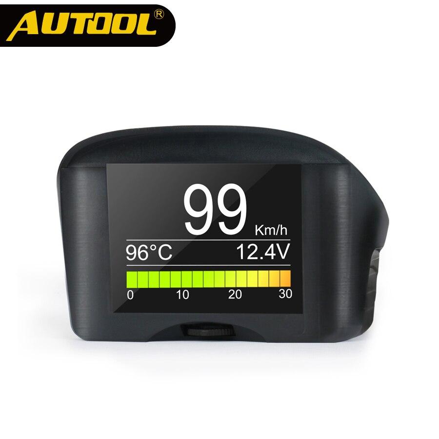 AUTOOL X50Plus Auto OBD2 Display Tachometer Auto Wasser Temperatur Spannung Sicher Alarm Digitale Diagnose Werkzeug Automotive Meter