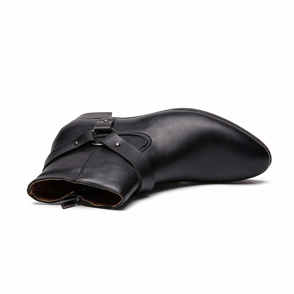 JAYCOSIN männer Stiefeletten 2019 Herbst Winter Männlichen Qualität Pu Leder Chelsea Stiefel Mode Mann Spitz Squared Ferse schuhe
