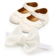 0-18M maluch dziecko buty dziewczęce Party chrzest mokasyny obuwie dziecięce chrzciny noworodka duża kokarda Pu skórzane buty buciki