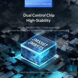 Image 3 - ORICO אלומיניום 4 מפרץ 3.5 אינץ SATA ל usb HDD מארז עם 150W כוח פנימי תמיכה 64TB HDD תחנת עגינה עבור מחשב נייד מחשב