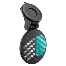 Feu de fenêtre arrière de voiture amusant EM01, Auto intelligent, contrôle par application, Bluetooth 5.0, affichage de panneau lumineux RGB, accessoires de voiture