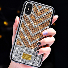 ZKFYS Glitter Case For coque iPhone X S MAX Xs XR Luxury Diamond Bling Soft TPU Cover 6 6s 7 8 plus Phone case Funda