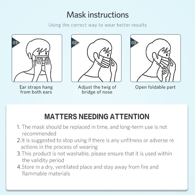 Sterile Medical Masks Disposable Non-woven Surgical Mask 3 layer PM2.5 Filter Anti Flu Hygiene Filtering Antibacterial Mask 4