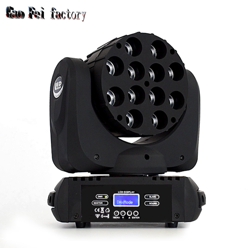 12*12W RGBW 4 IN1 Beam LED Moving Head Light 16 DMX Channels LED Effect Stage Moving Head Wash Lighting