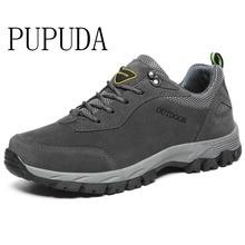 PUPUDA erkekler rahat ayakkabılar sonbahar kış yeni spor ayakkabı erkekler yürüyüş ayakkabıları klasik açık kaymaz spor ayakkabılar büyük boy 12.5 moda