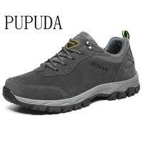 PUPUDA men casual shoes Autumn Winter new sneakers men hiking shoes Classic outdoor non slip sport shoes big size 12.5 fashion