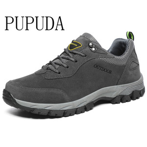 Image 1 - PUPUDA men casual shoes Autumn Winter new sneakers men hiking shoes Classic outdoor non slip sport shoes big size 12.5 fashion