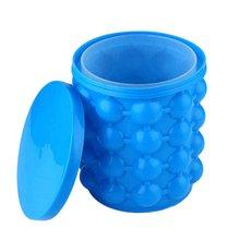 Силиконовое ведро для льда кубик для льда Силиконовое ведро для хранения удобный синий цвет Прочный термостойкий