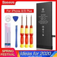 Baseus bateria do telefone móvel para iphone 8plus 8 mais original batterie substituição de alta capacidade 2200 3400 mah bateria para iphone8