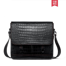 gete New crocodile skin single-shoulder bag for men casual fashion cross-body bag crocodile skin belly manual vertical men's bag недорого