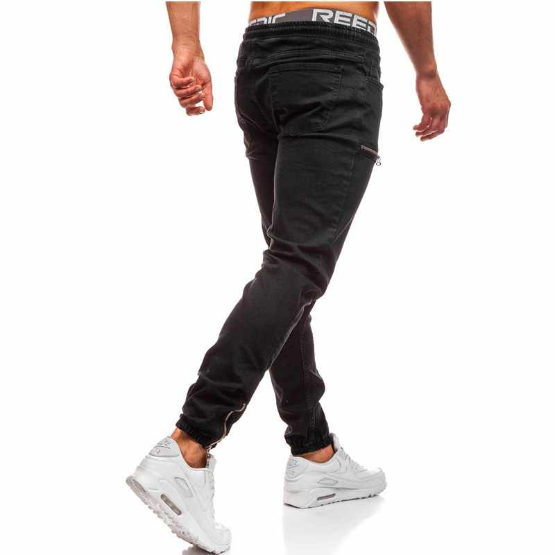 Marke Jeans Retro Nostalgie Männer Kleidung Hip Hop Jogginghose Dünne Denim Hosen Zipper Designer Schwarze Jeans Herren Casual Männer Jeans