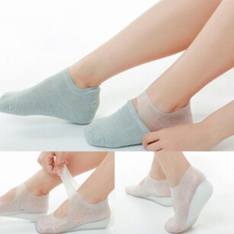2019 Silicone Gel Sole Height Increase Insole Invisible Arch Support Height Increase Socks Women Silicone Insoles Heel Pads New