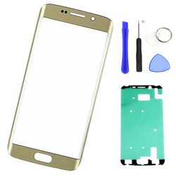 Wymiana ekranu szkło zewnętrzne do samsung S6 krawędzi Plus G928F G928 S6 krawędzi + ekran LCD dotykowy obiektyw przedni szklany panel + narzędzia