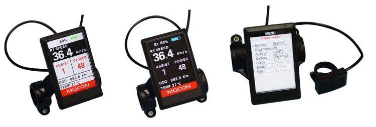 color display do velocímetro e com adaptador bluetooth para bicicleta
