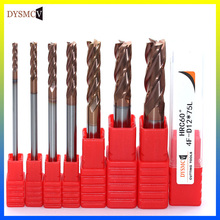 HRC60 3 mm 4 mm 5 mm 4-slot carbide end mill standard length 75 mm side milling slotted profile end mill