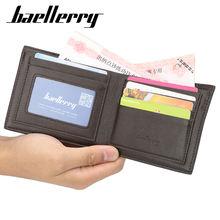 Мужской винтажный кошелек baellerry без молнии женский бумажник