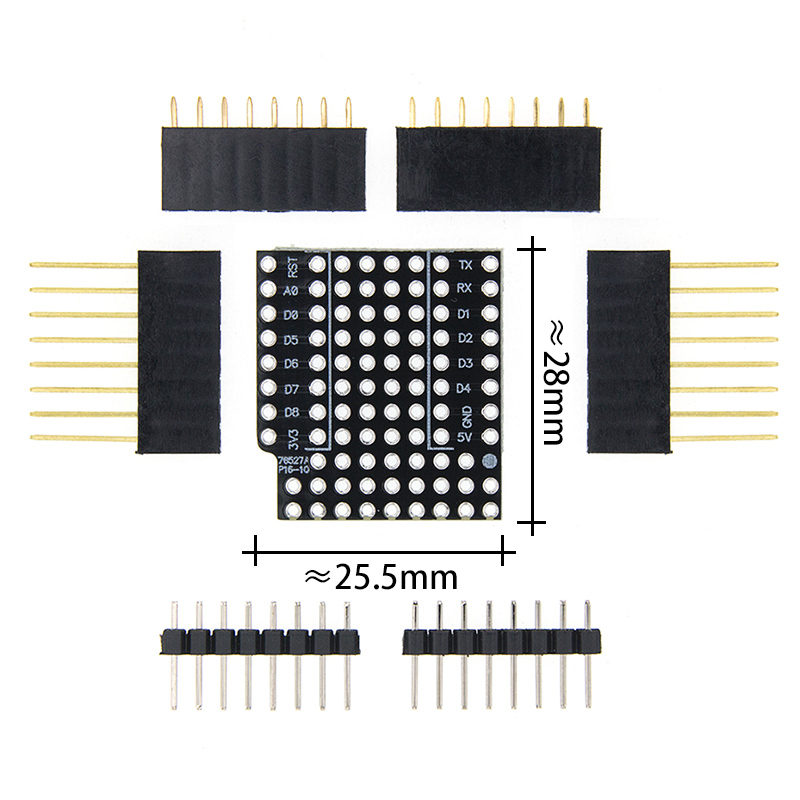 10set ProtoBoard Shield for WeMos D1 mini double sided perf board Compatible