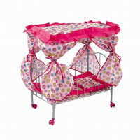 Pretend Play Toys Doll Bed Metal Frame Baby Doll Cots for Doll used Doll Furniture Birthday Chirstmas Gifts Brinquedos Juguetes