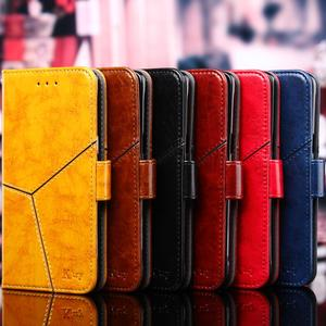Image 2 - For Apple iPhone 11 Pro XS Max XR X 8 7 6S 6 Plus Luxury Vintage Retro Geometric Splicing Flip Leather Phone Case Stand Cover