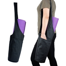 Yoga Mat Bag Pouch Tote Sling Carrier W/ Large Side Pocket & Zipper Pockets BAG