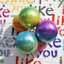 5 шт., 22 дюйма, 4D градиент Цвет круглые шары Цвет Фул глобальной Свадебные украшения ко дню рождения, вечерние Декор гелий Фольга воздушные шары