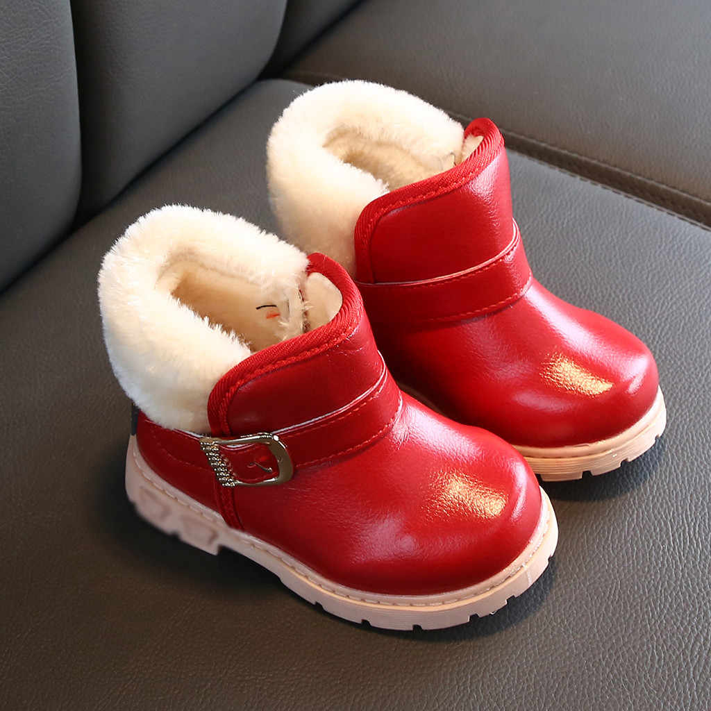 girls boots for kids winter shoes waterproof snow boots children shoes winter shoes for girls boys rubber boots #3