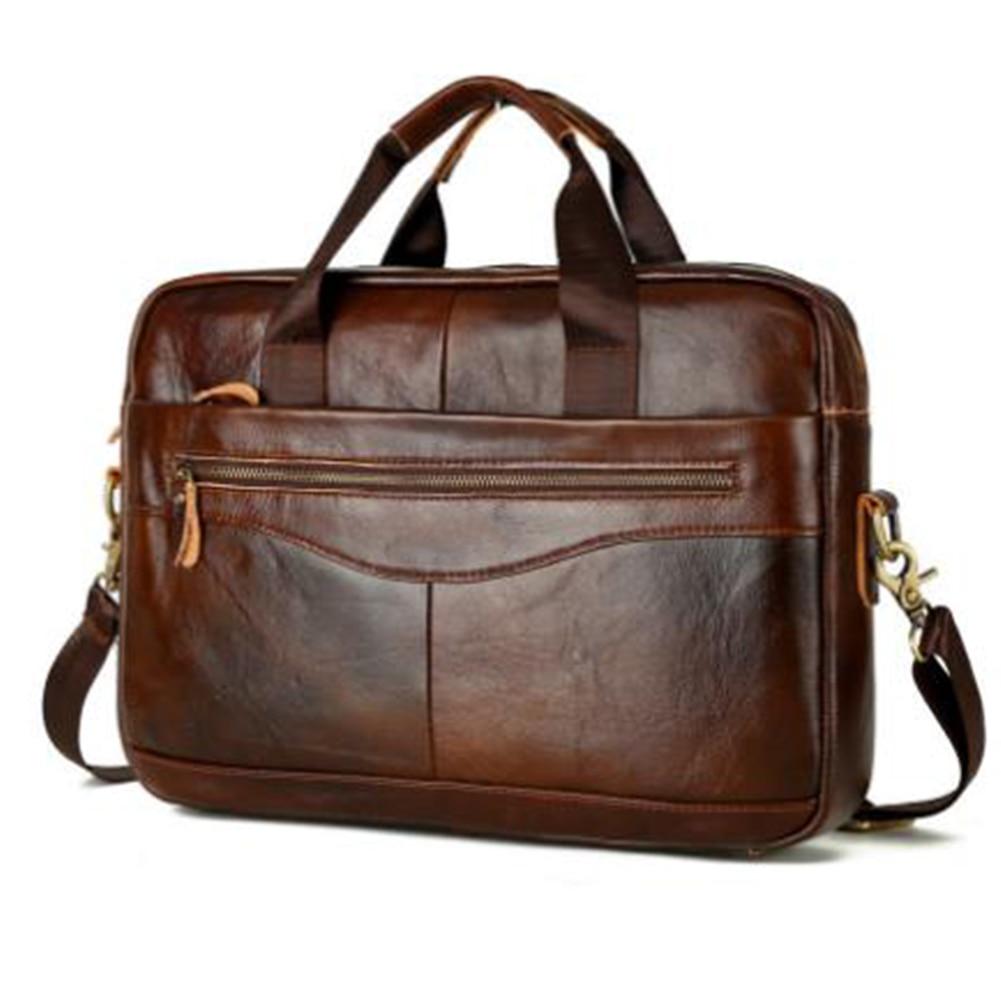 Men Briefcase Handbag Travel-Storage Work Large-Capacity Portable Solid Square Multifunction
