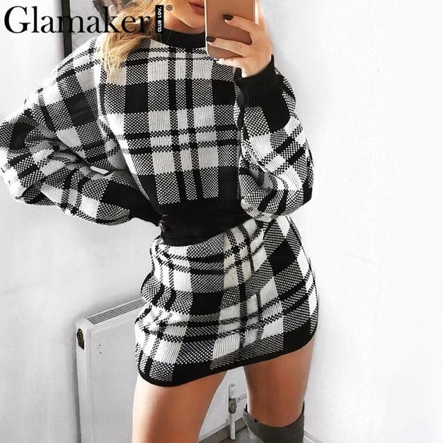 Elegant winter sweater female fashion party short dress 2