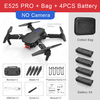 E525 PRO RC Quadcopter Profissional Obstacle Avoidance Drone Dual Camera 1080P 4K Fixed Height Mini Dron Helicopter Toy 17