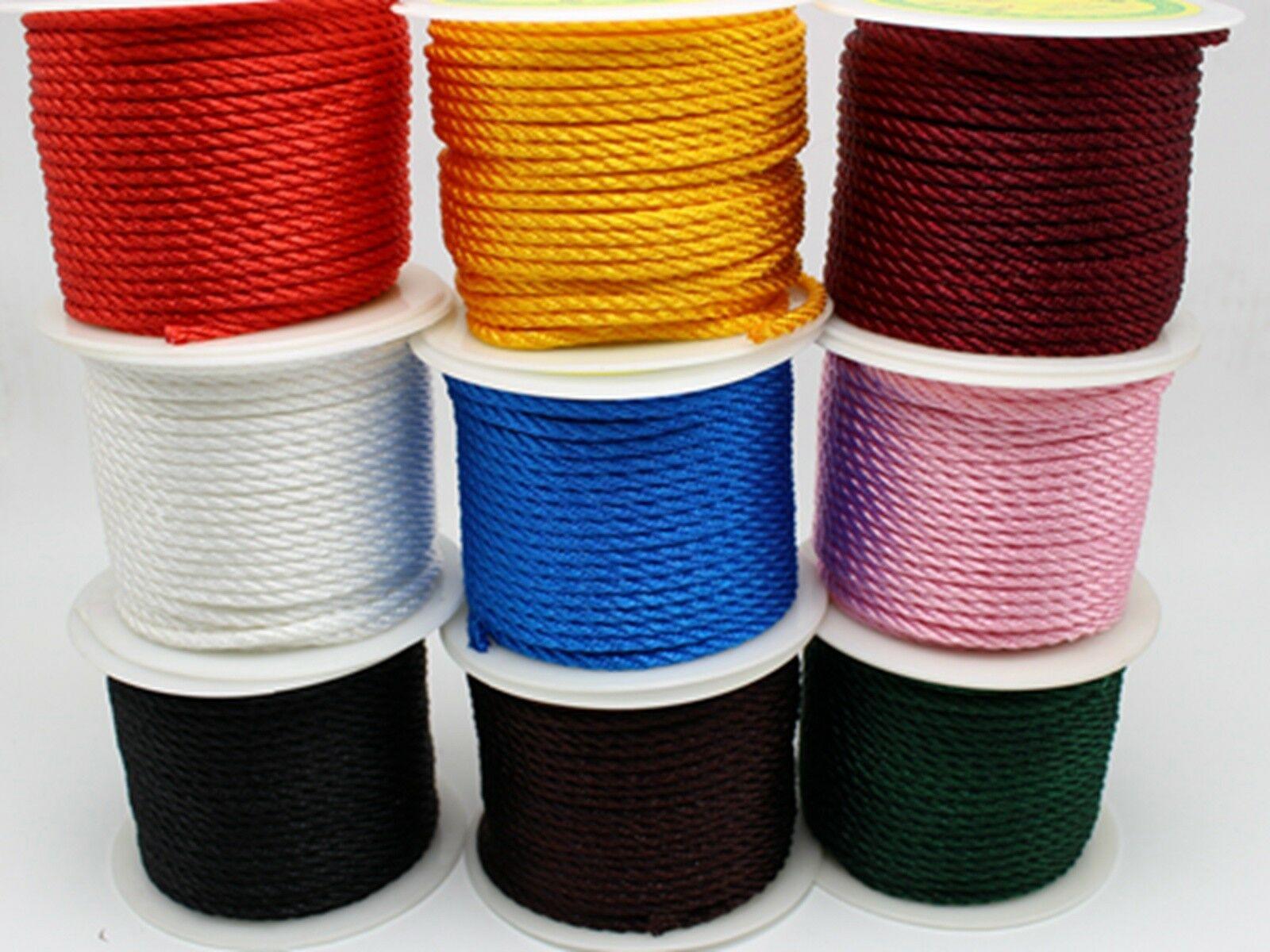 16.4 Feets 3mm Nylon String Chinese Satin Silk Braided Cord Love Binding Rope