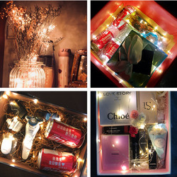 New Year 2020 Gifts 10M/5M/2M LED Garland Copper Wire String Fairy Lights Noel Christmas Decorations for Home Xmas Tree Decor 6