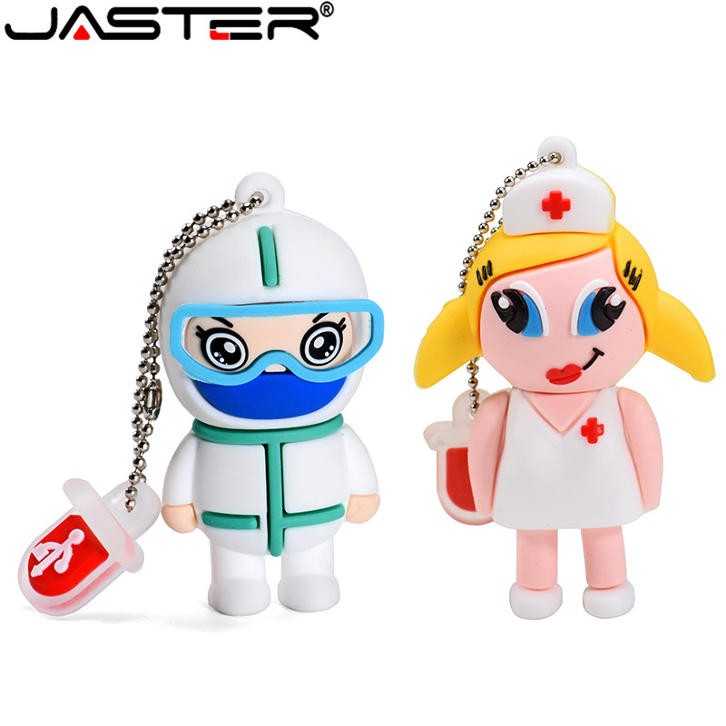 JASTER Doctor Nurse Pendrive 4GB 8GB 16GB 32GB 64GB USB 2.0 Memory Pen Drive Stick USB Flash Drives