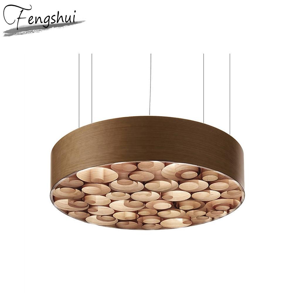 Japan Style Wood Pendant Lights Lighting LED Light Fixture Pendant Lamp Living Room Bedroom Kitchen Restaurant Hanging Lamp
