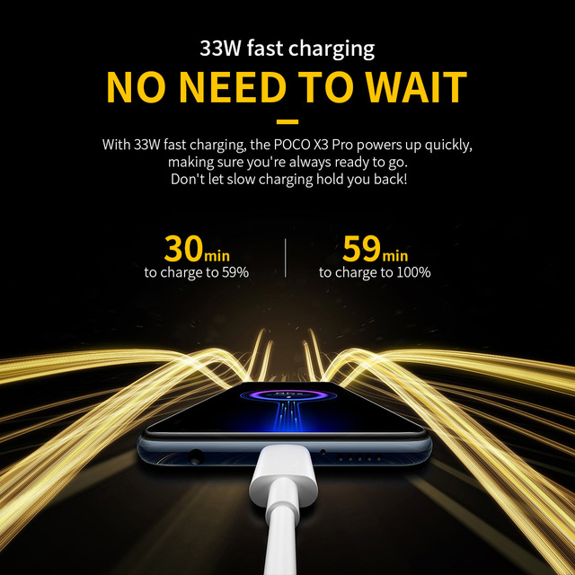 POCO X3 Pro Global Version 8GB+256GB Xiaomi Smartphone Snapdragon 860 120Hz DotDisplay 5160mAh 33W NFC Charge Quad AI Camera 4