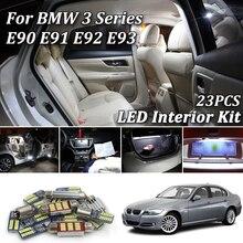 23 шт. белые светодиодные с CANBUS салона комплект ламп для BMW E90 E91 E92 E93 M3 2006-2012 светодиодные фонари для салона