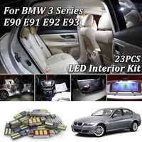 23Pcs White Canbus led Car interior lights Package Kit for BMW E90 E91 E92 E93 M3 2006 - 2012 led interior lights