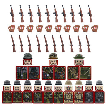 Building Blocks Military WW2 German Weapon Gun Army Soldiers Accessories 98k Soviet Mini Bricks Toys For Children Christmas Gift 21pcs machine gun moc weapon pack military accessories blocks city police ww2 soldiers figures bricks parts compatible legoed