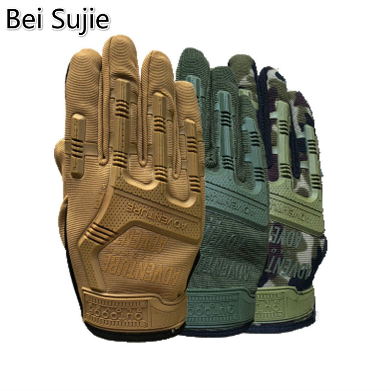 Bei Sujie Tactical Full Finger Gloves For Men Camouflage Paintball Military Shooting Gloves For SWAT Soldiers Bicycle Gloves