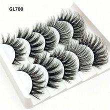 10pcs Fashion Natural Long 3D False Eyelashes Wispy Fluffy Extension 100% Mink Hair Fake Thick
