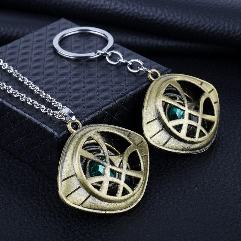 2 Цвета брелок с надписью Doctor Странный Глаз Agamotto цепочка для ключей брелки для ключей для автомобиля подарка Chaveiro брелок для ключей ювелирны...