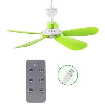 Ventilador de techo con Control remoto, 5W, USB, para cama, Camping, colgante para exteriores, tienda de campaña, colgador 1