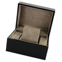 Черные деревянные наручные часы/Подушка для браслетов коробка