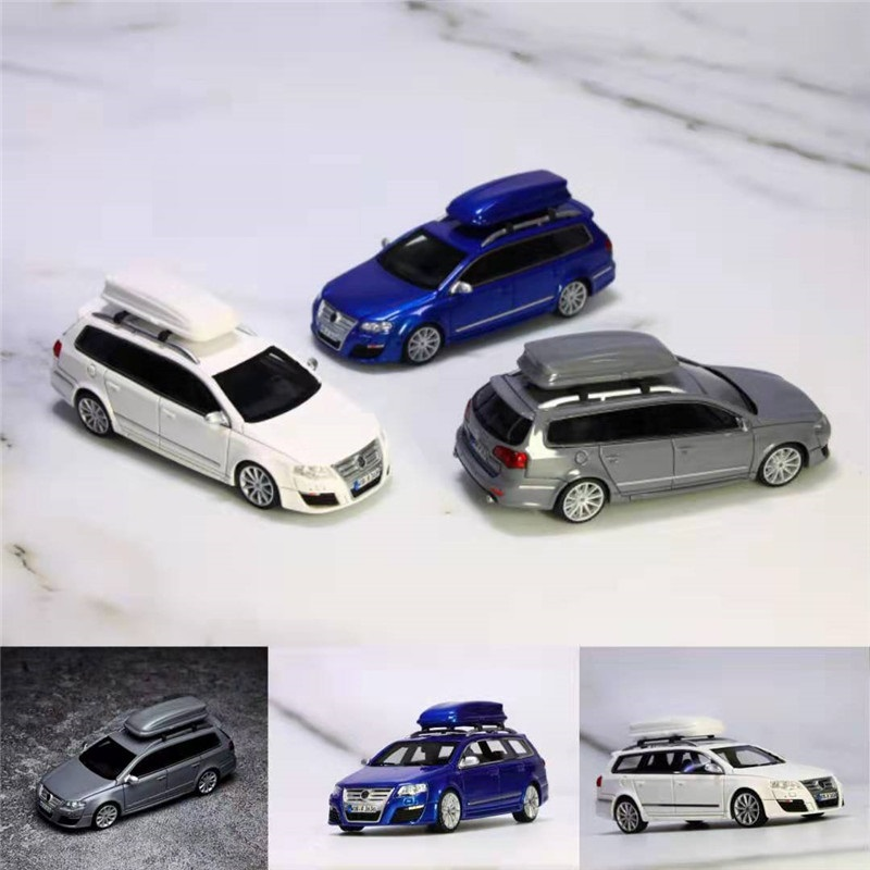 JEC 1:64 VW Wagon R36 With Roof Box Resin Model Car