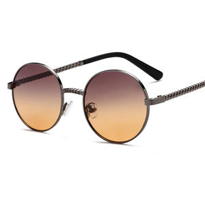 Frame Sunglasses Women Retro Fashion Small Round Chain Fragrance Terms Modern New