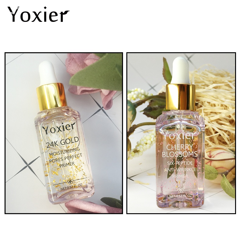 Image 5 - Yoxier Makeup Base Moisturizing Essence 24k Gold Elixir Oil Control Professional Matte Serum Series Brand Foundation Primer 1pcs-in Primer from Beauty & Health