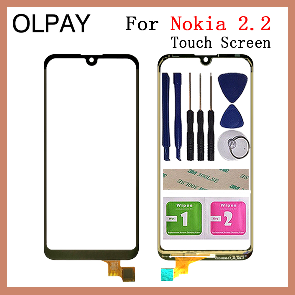 100% New 5.71'' Inch Mobile Phone TouchScreen For Nokia 2.2 Touch Screen Digitizer Sensor Touch Panel Glass Repair And Tools